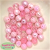 12mm Mixed Style Pink Faux Pearl Beads sold in packages of 50 beads