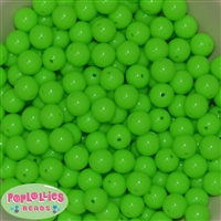 12mm Neon Lime Acrylic Bubblegum Beads sold in packages of 50 beads