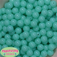 12mm Neon Mint  Acrylic Bubblegum Beads sold in packages of 50 beads