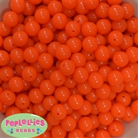 12mm Neon Orange Acrylic Bubblegum Beads sold in packages of 50 beads