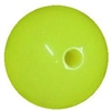 12mm Neon Yellow Bead