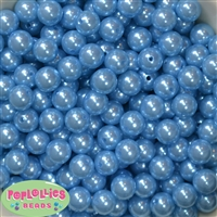 12mm Baby Blue Faux Pearl Beads