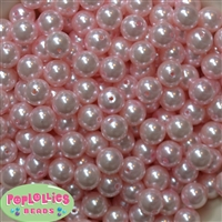 12mm Baby Pink Acrylic Faux Pearl Beads 260pc