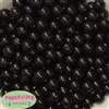 12mm Bulk Black Acrylic Faux Pearls
