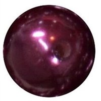 12mm Burgundy Faux Pearl Beads sold individually