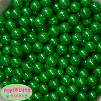 12mm Christmas Green Faux Pearl Beads