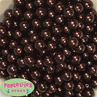 12mm Cocoa Brown Faux Pearl Beads sold in packages of 50 beads