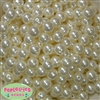 12mm Bulk Cream Acrylic Faux Pearls
