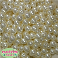 12mm Cream Faux Pearl Beads sold in packages of 50 beads