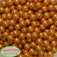 12mm Gold Faux Pearl Beads