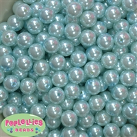 12mm Light Blue Faux Pearl Beads sold in packages of 50 beads