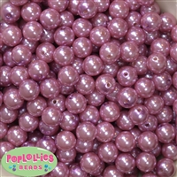 12mm Mauve Acrylic Faux Pearl Beads 260pc