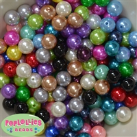 12mm Mixed Color Pearl Beads 200pc