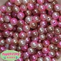 12mm Ice Cream Ombre Tone Multi Color Ombre Faux Pearl Acrylic Beads