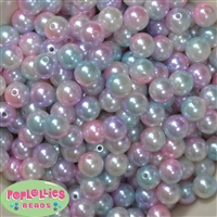 12mm Mermaid Ombre Acrylic Faux Pearl Beads 260pc