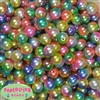 12mm Rainbow Ombre Faux Pearl Acrylic Beads