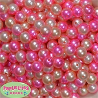 12mm Spring Multi Faux Pearl Acrylic Bead  sold in packages of 40 beads