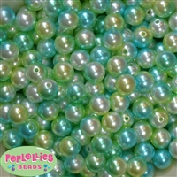 12mm Under the Sea Multi Faux Pearl Acrylic Bead  sold in packages of 40 beads