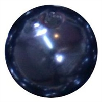 12mm Navy Blue Faux Pearl Bead