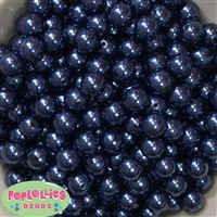 12mm Navy Blue Faux Pearl Beads