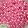 12mm Bulk Pink Acrylic Faux Pearls
