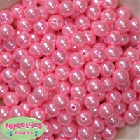 12mm Pink Faux Pearl Beads sold in packages of 50 beads