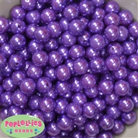 12mm Purple Acrylic Faux Pearl Beads 260pc