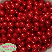 12mm Red Acrylic Faux Pearl Beads 260pc