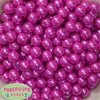 12mm Rose Pink Acrylic Faux Pearl Beads 260pc