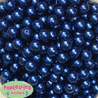 12mm Royal Blue Faux Pearl Beads