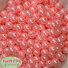12mm Bulk Shell Pink Acrylic Faux Pearls Free shipping Bead Bucks