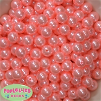 12mm Shell Pink Faux Pearl Beads sold in packages of 50 beads