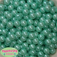 12mm Bulk Turquoise Acrylic Faux Pearls