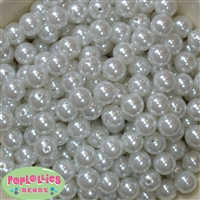 12mm White Acrylic Faux Pearl Beads 260pc