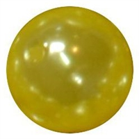 12mm Yellow Faux Pearl Bead