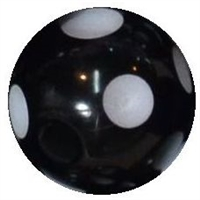 12mm Acrylic Polka Black Dot Bubblegum Beads sold by the bead