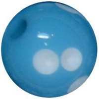 12mm Acrylic Blue Polka Dot Bubblegum Beads sold by the bead