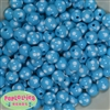 12mm Blue Polka Dot Bubblegum Beads sold in packages of 50 beads