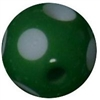 12mm Acrylic Polka Green Dot Bubblegum Bead