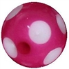 12mm Acrylic Hot Pink Polka Dot Bubblegum Beads sold by the bead
