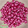 12mm Hot Pink Polka Dot Bubblegum Beads sold in packages of 50 beads