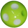 12mm Acrylic Polka Lime Dot Bubblegum Beads sold by the bead