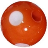 12mm Acrylic Orange Polka Dot Bubblegum Beads sold by the bead
