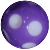 12mm Polka Purple Dot Acrylic Bubblegum Beads sold by the bead