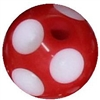 12mm Red Polka Dot Acrylic  Bubblegum Beads sold by the bead