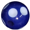 12mm Acrylic Royal Blue Polka Dot Bubblegum Beads sold by the bead