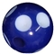 12mm Royal Blue Polka Dot Bead