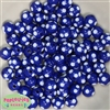 12mm Royal Blue Polka Dot Bubblegum Beads sold in packages of 50 beads