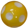 12mm Yellow Polka Dot Acrylic Bubblegum Beads sold by the bead