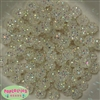12mm Clear Rhinestone Bubblegum Beads